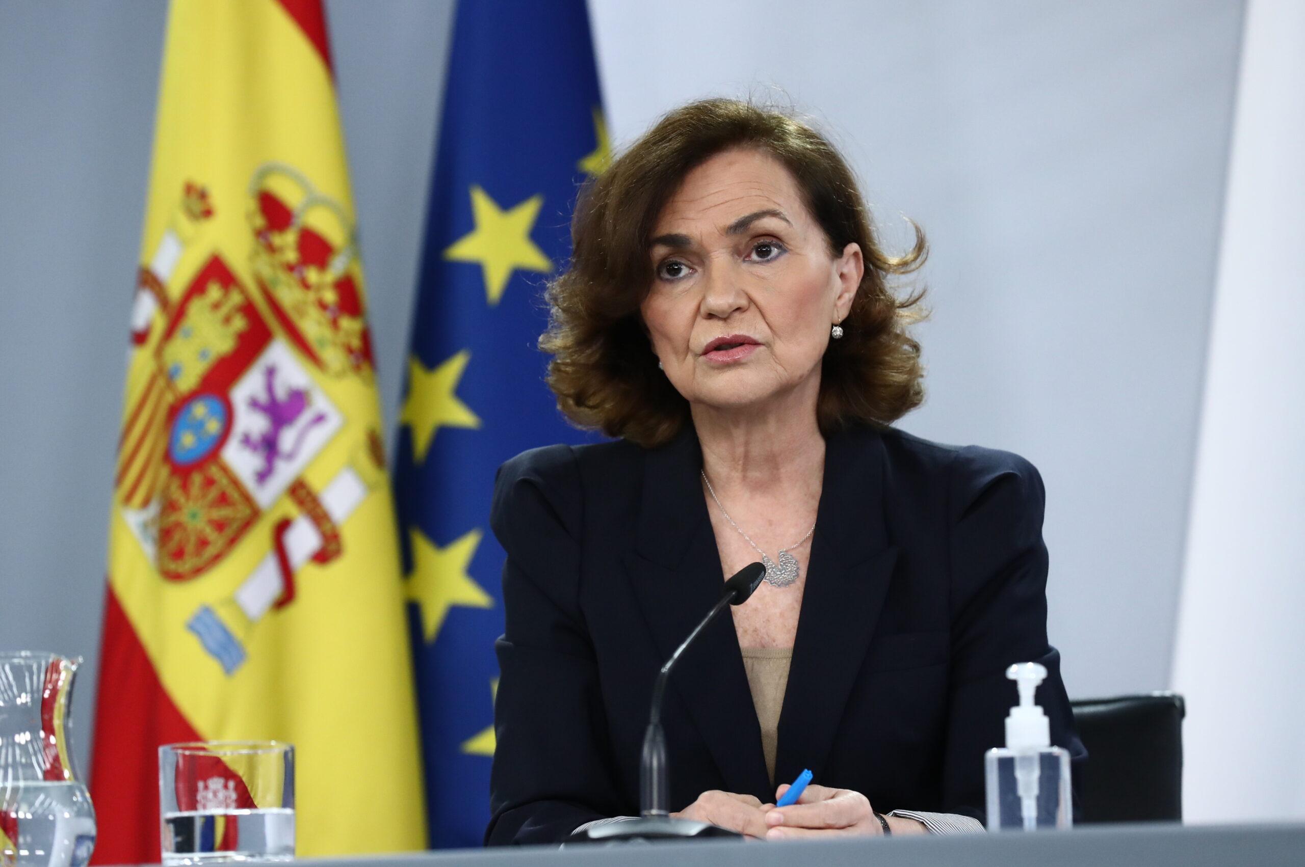 La vicepresidenta primera del govern espanyol, Carmen Calvo | ACN