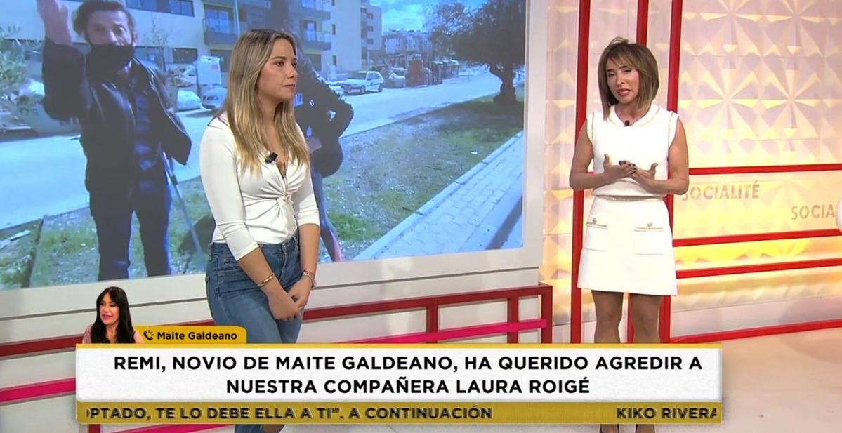 Una reportera catalana de 'Socialité', agredida per la parella de Maite Galdeano - Telecinco