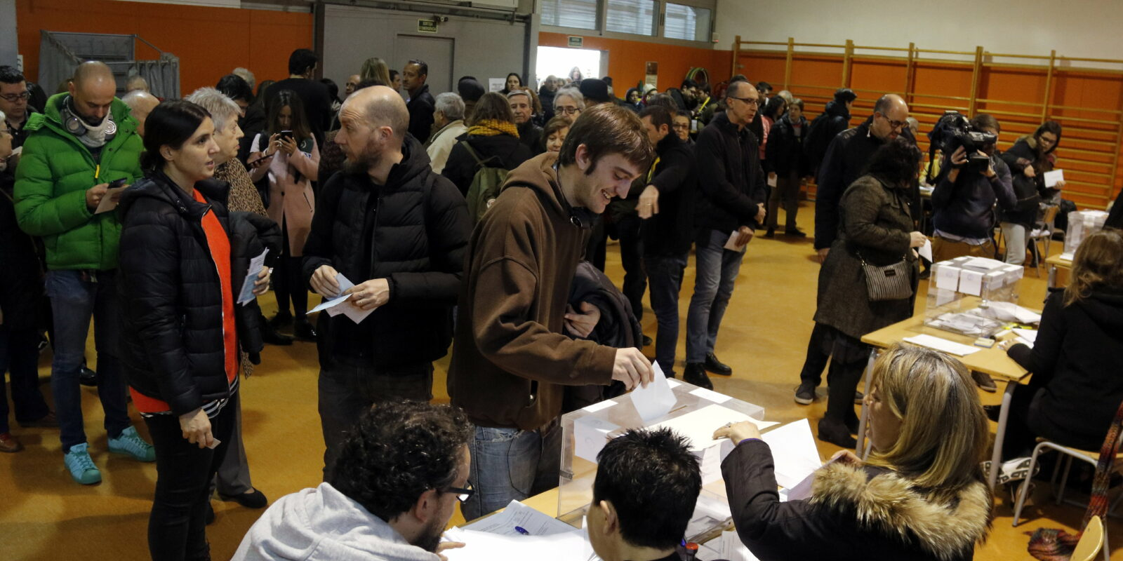 Un col·legi electoral de Barcelona el 21 de desembre del 2017 / ACN
