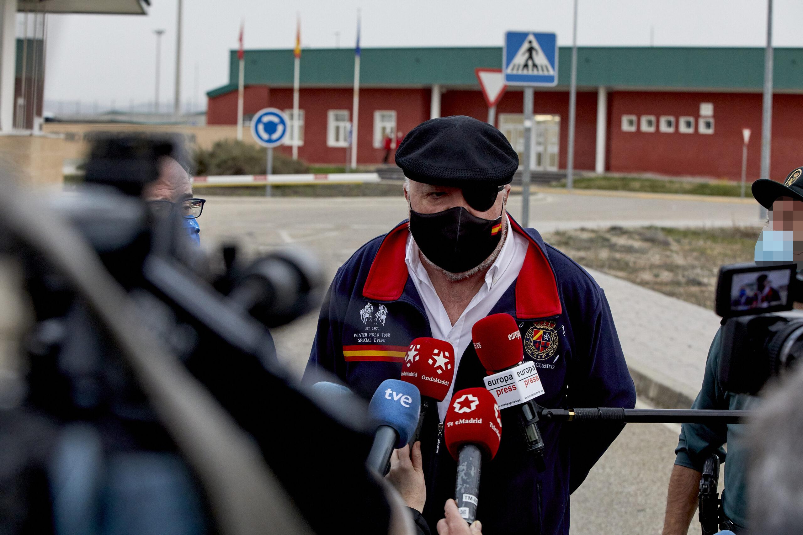 Villarejo sortint de la presó d'Estremera | Europa Press