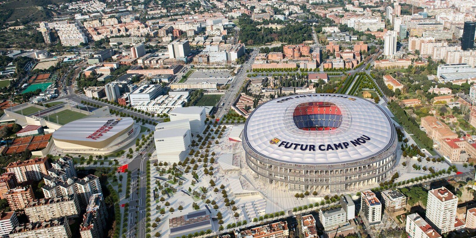 Una reproducció d'un dels projectes d'Espai Barça de Bartomeu | Europa Press