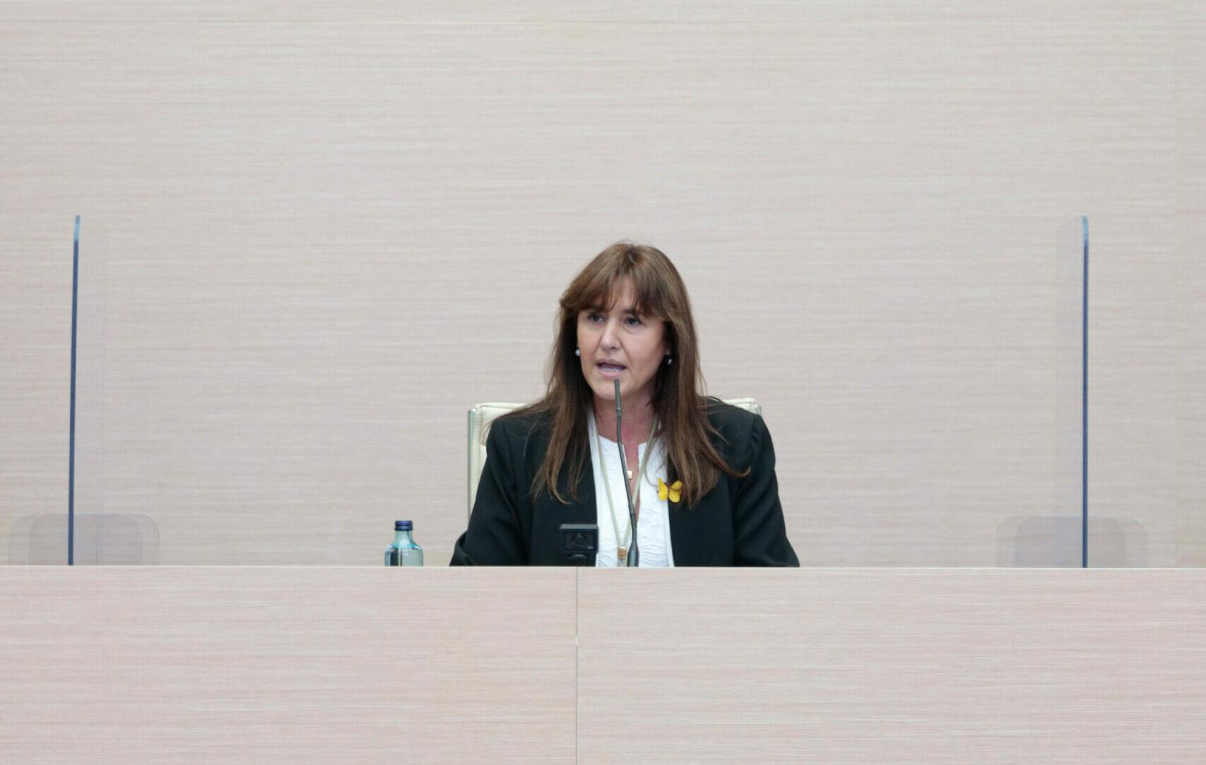 La presidenta del Parlament, Laura Borràs | ACN