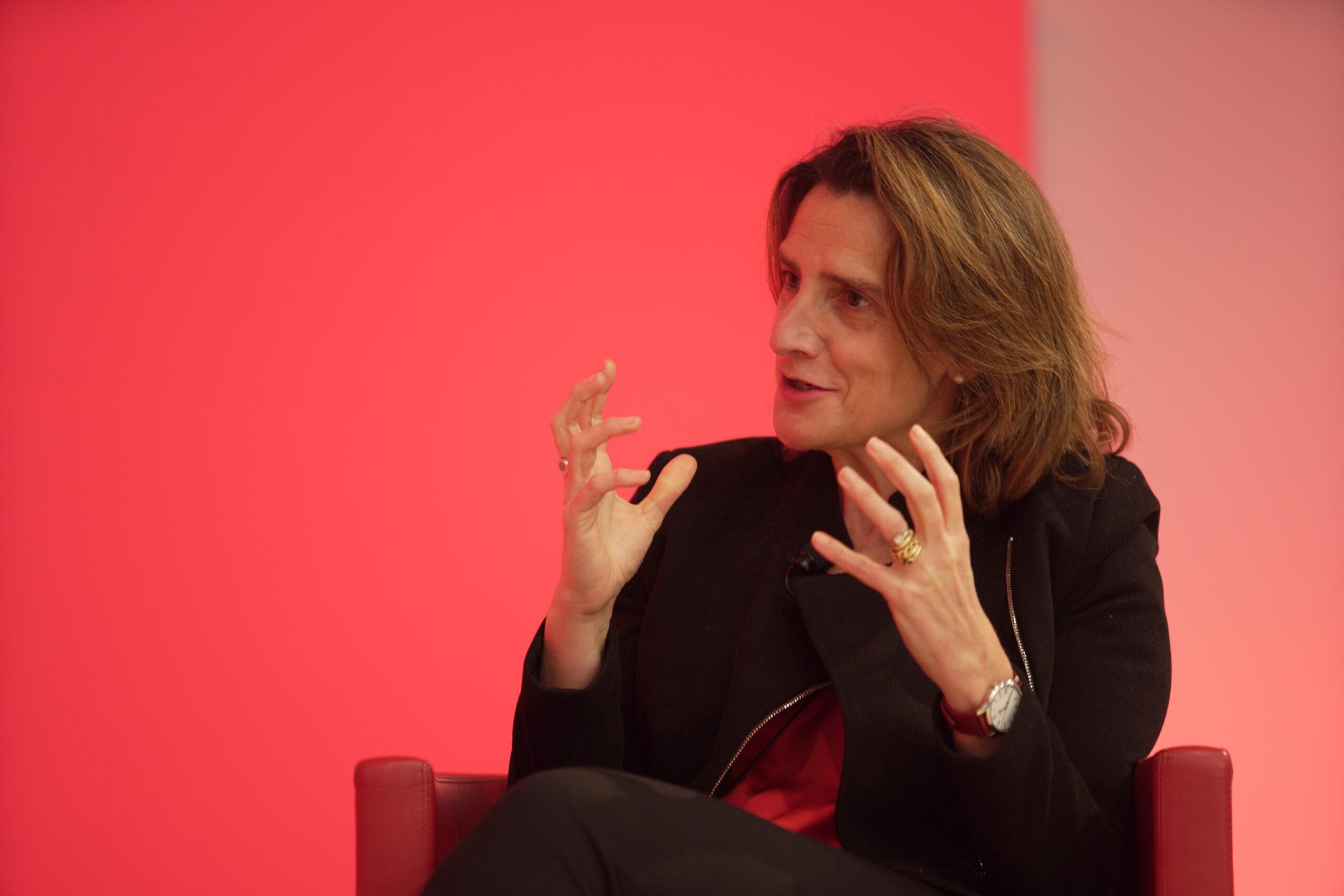 La ministra de Transició Ecològica, Teresa Ribera, en un acte del PSC | ACN