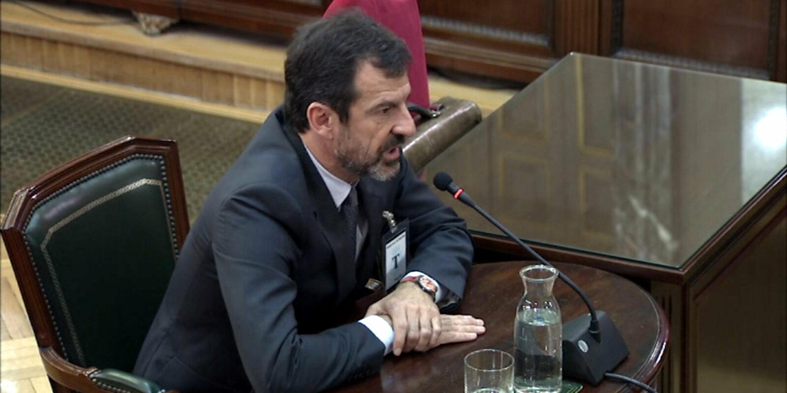 El comissari Ferran López declarant com a testimoni al Tribunal Suprem, el 3 d'abril del 2019 / ACN