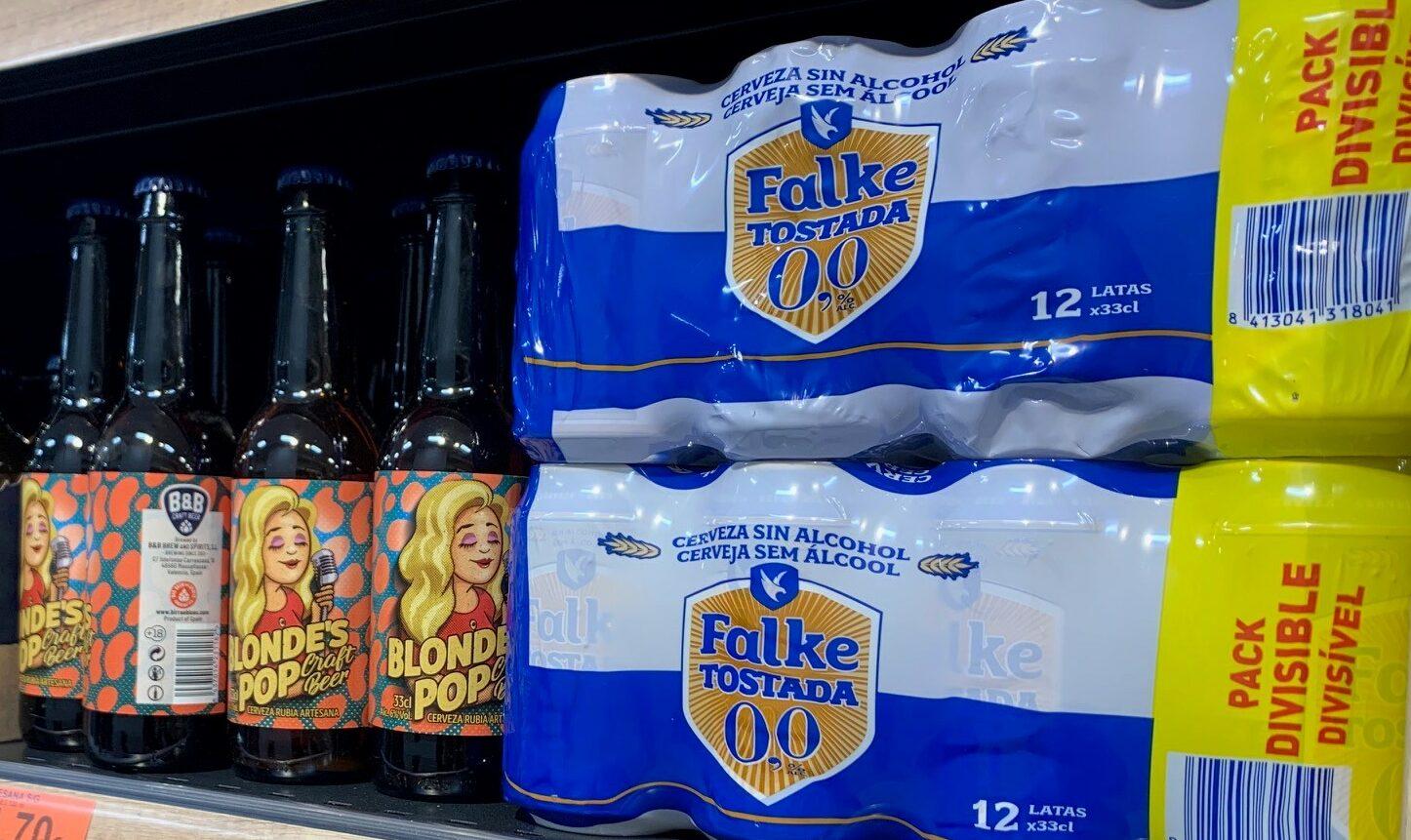ova cervesa Falke Torrada 0,0 % al lineal de Mercadona