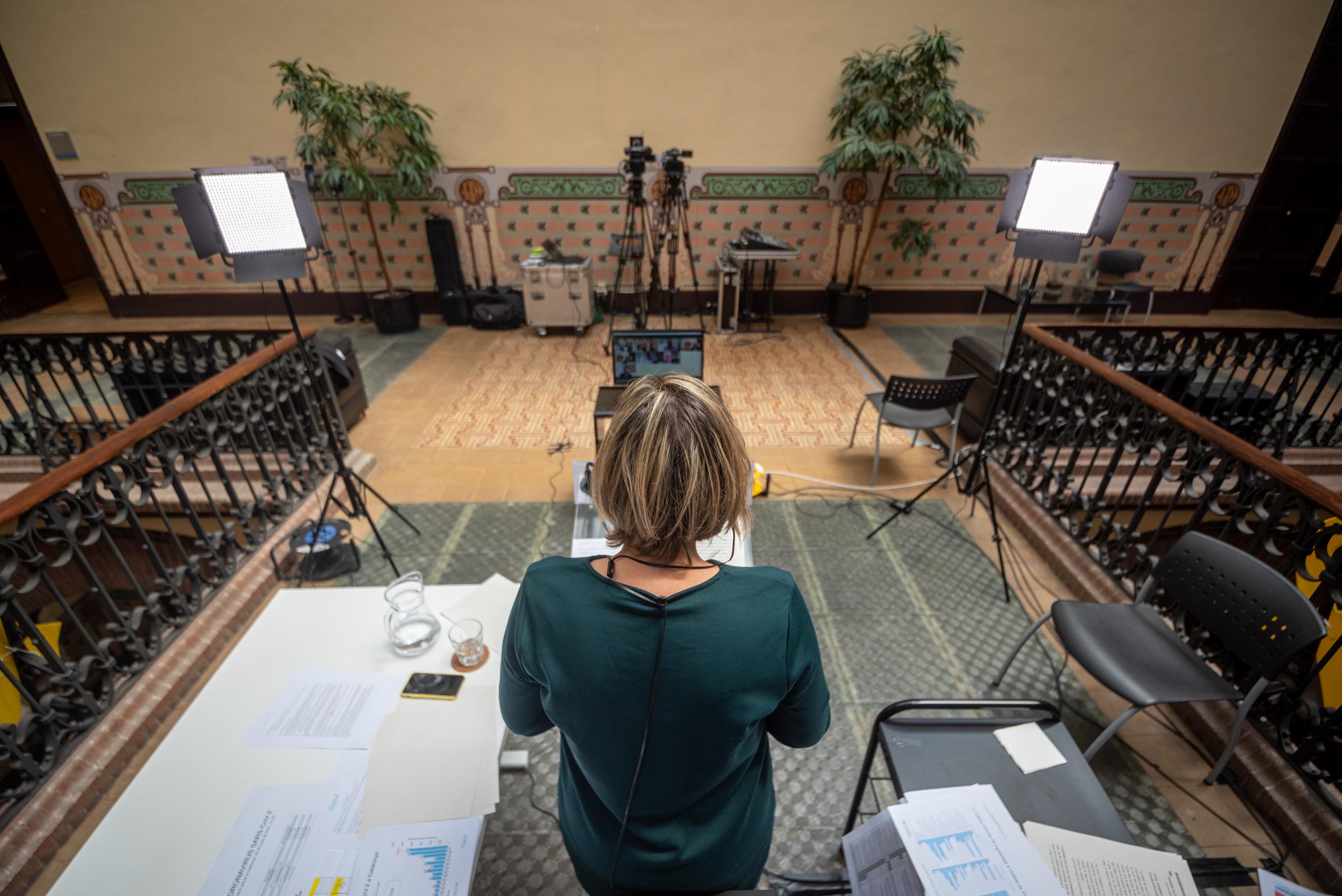Alba Vergés en una roda de premsa a la seu del departament de Salut / Marc Puig