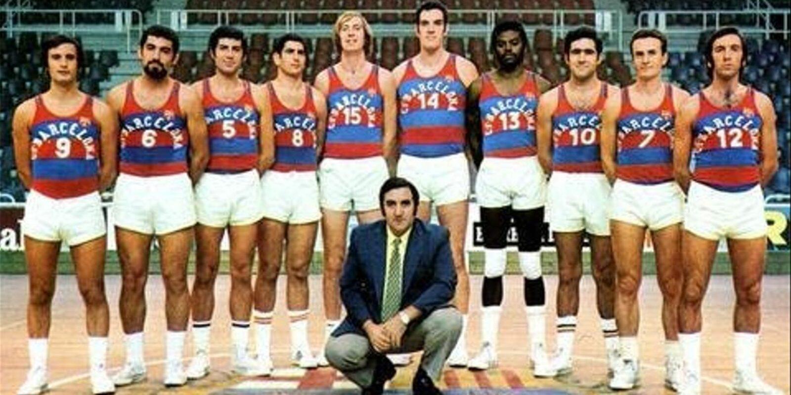Carmichael i Thomas, amb altres companys del Barça   Fundació Bàsquet Català