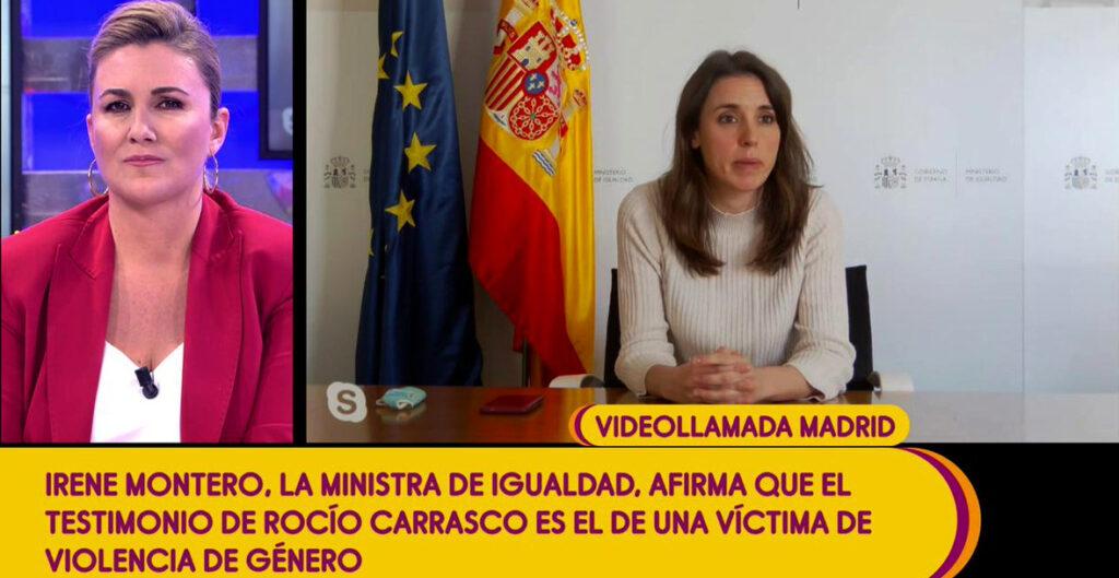 Irene Montero parla amb Carlota en directe a 'Sálvame' - Telecinco