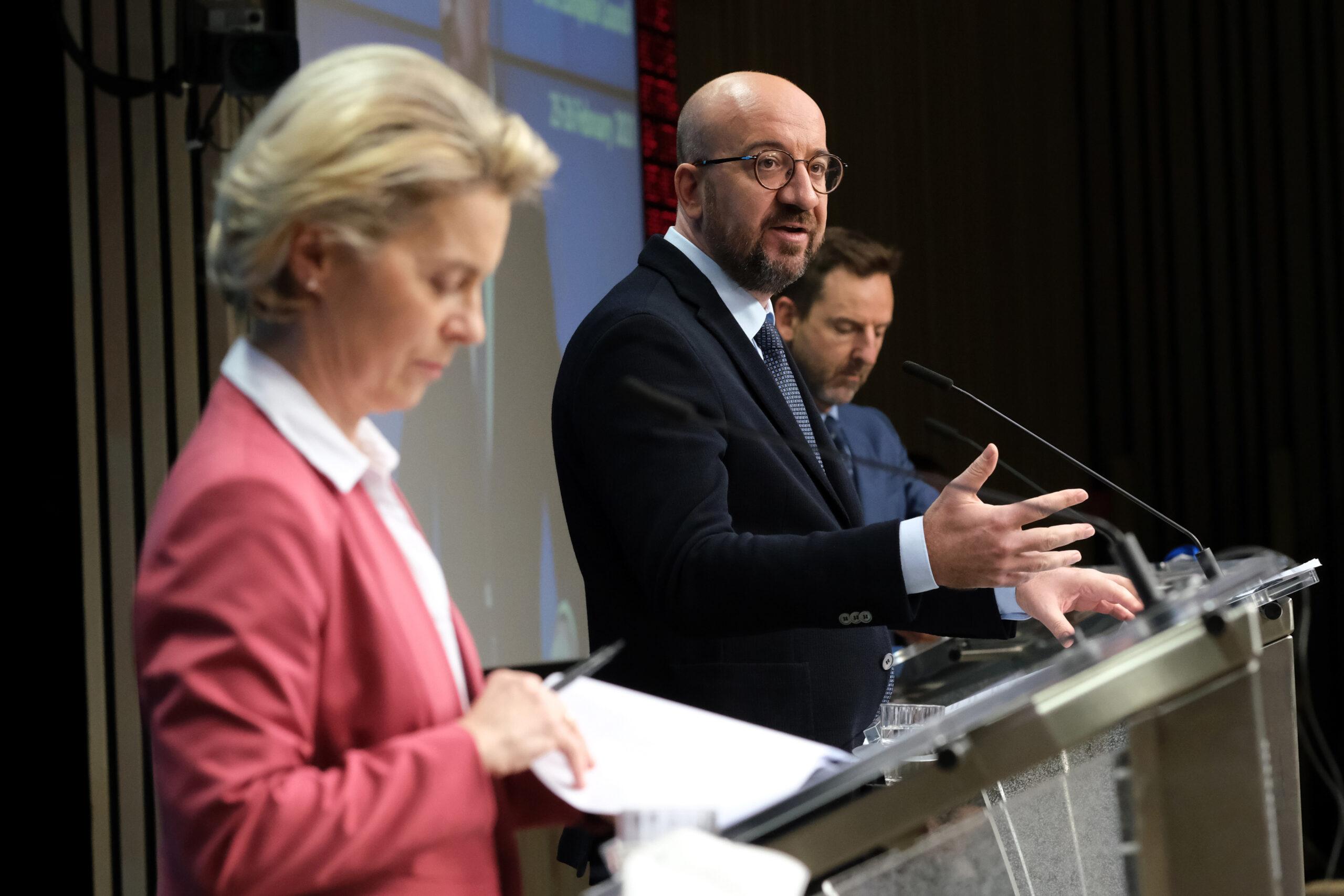 La presidenta de la Comissió, Ursula von der Leyen, i del president del Consell, Charles Michel | ACN