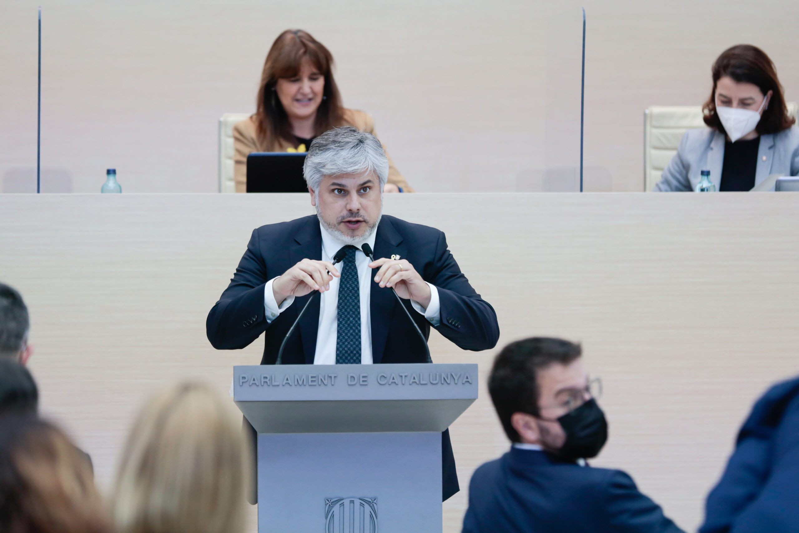 El portaveu de JxCAT, Albert Batet, durant el debat d'investidura