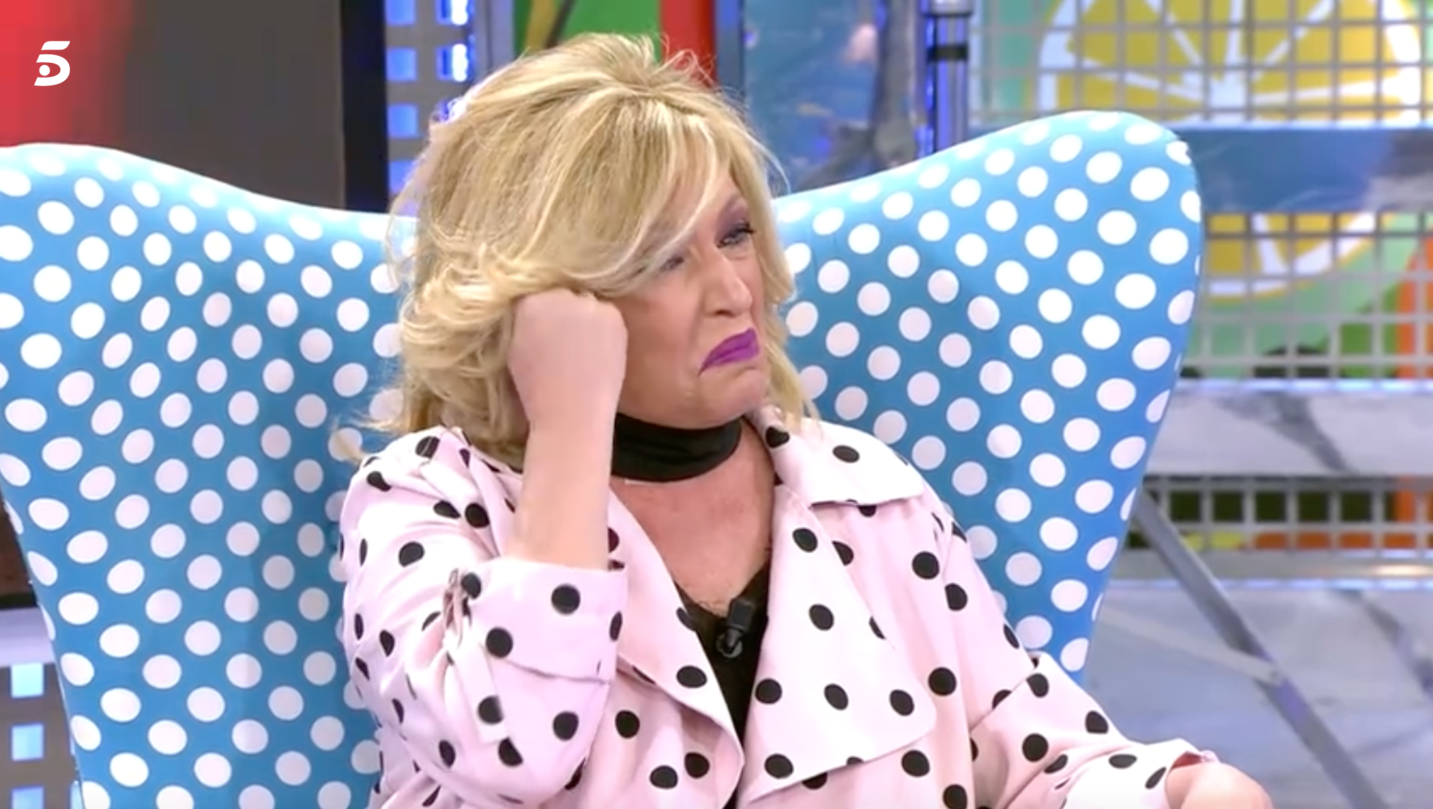 Lydia Lozano plorant per la mort del seu germà   Telecinco