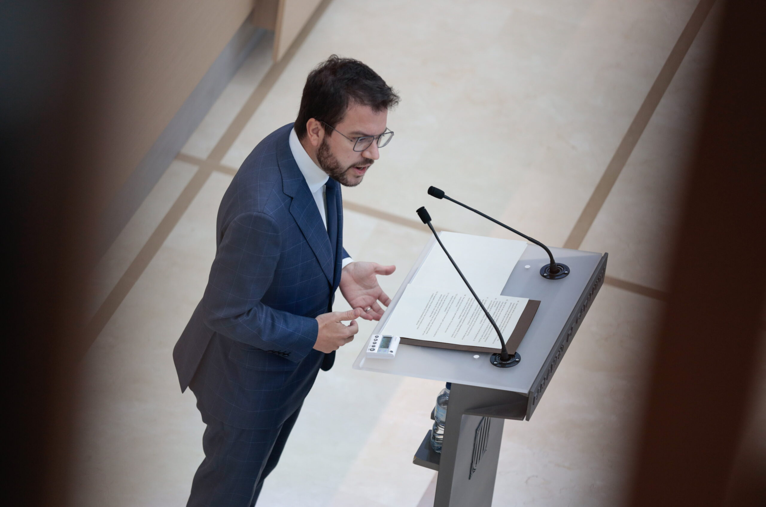 Pere Aragonès, durant el debat d'investidura