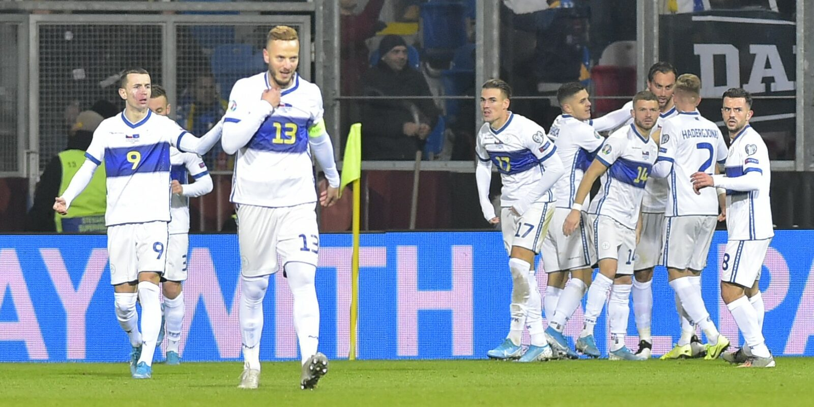 Els jugadors de la selecció de Kosovo celebren un gol | Europa Press   (Foto de ARCHIVO) 14/11/2019 ONLY FOR USE IN SPAIN