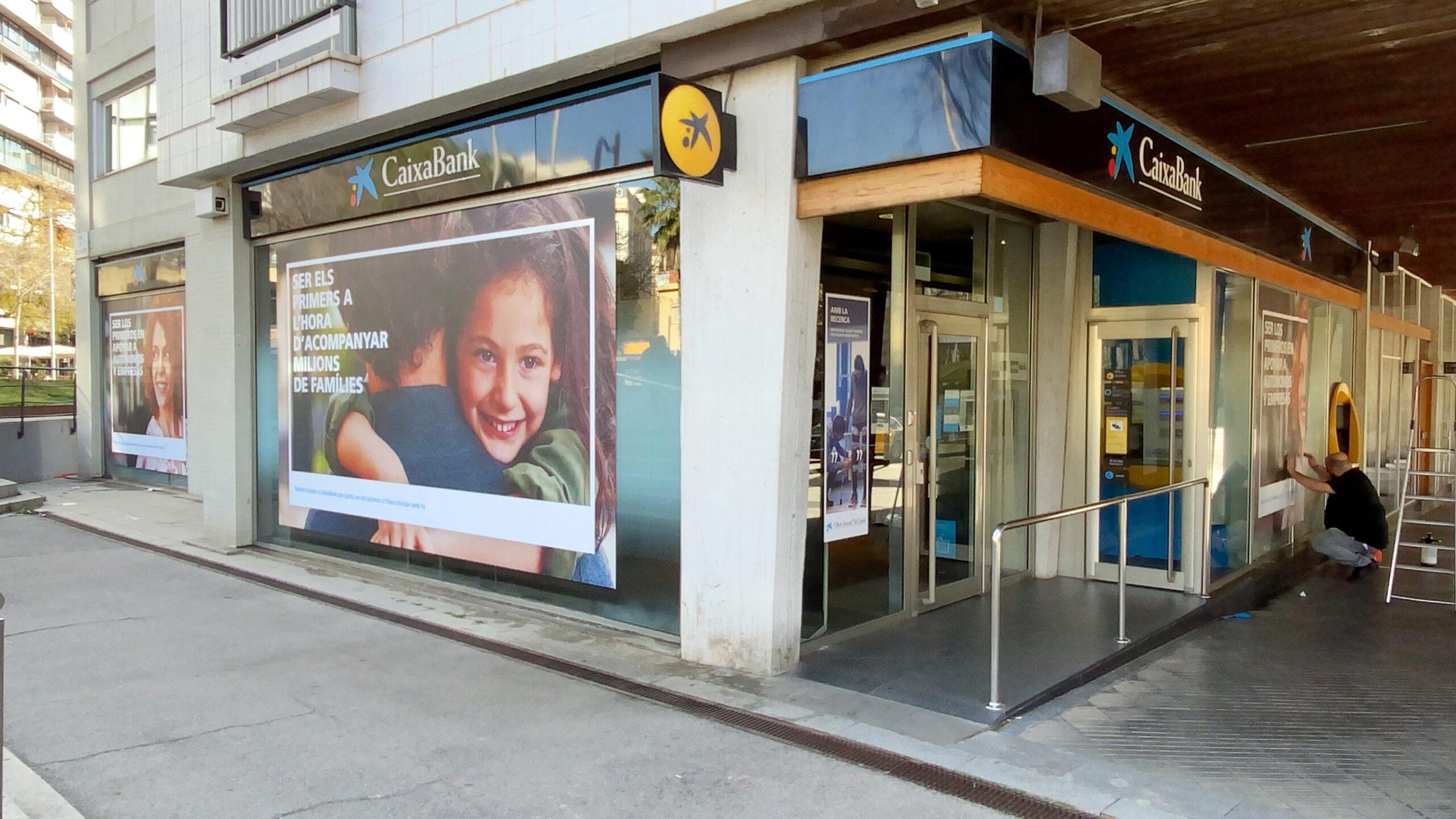 Una oficina de CaixaBank a Barcelona | ACN