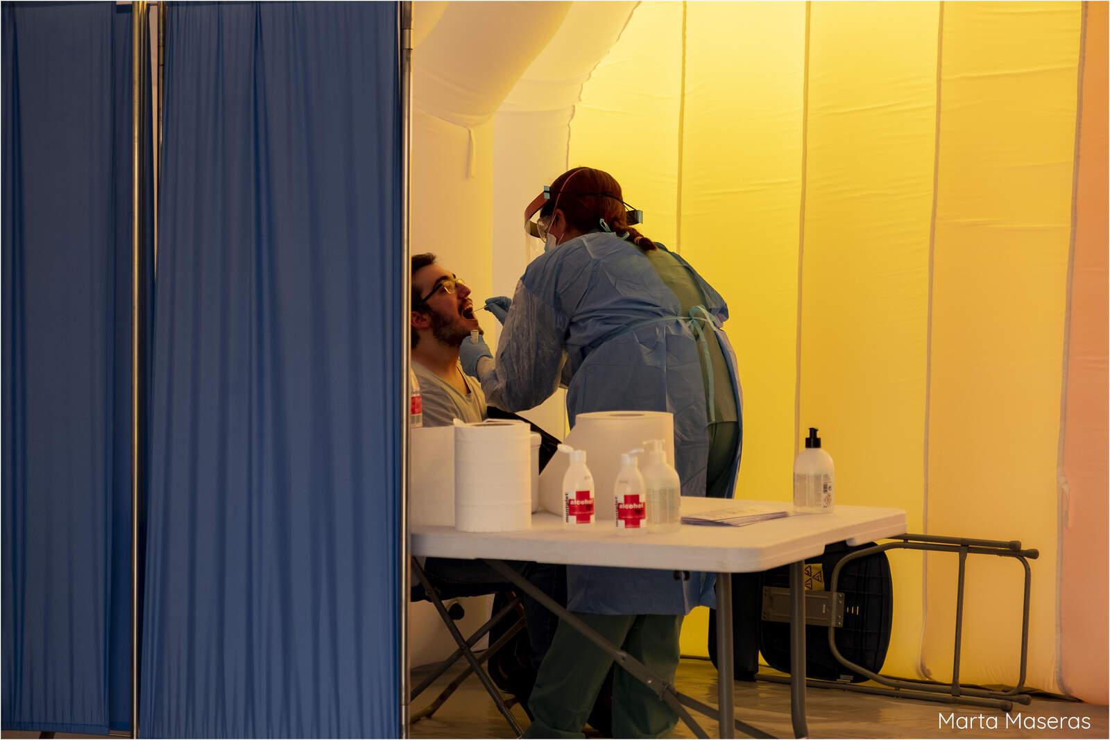 Testos massius a Terrassa per frenar l'increment de contagis