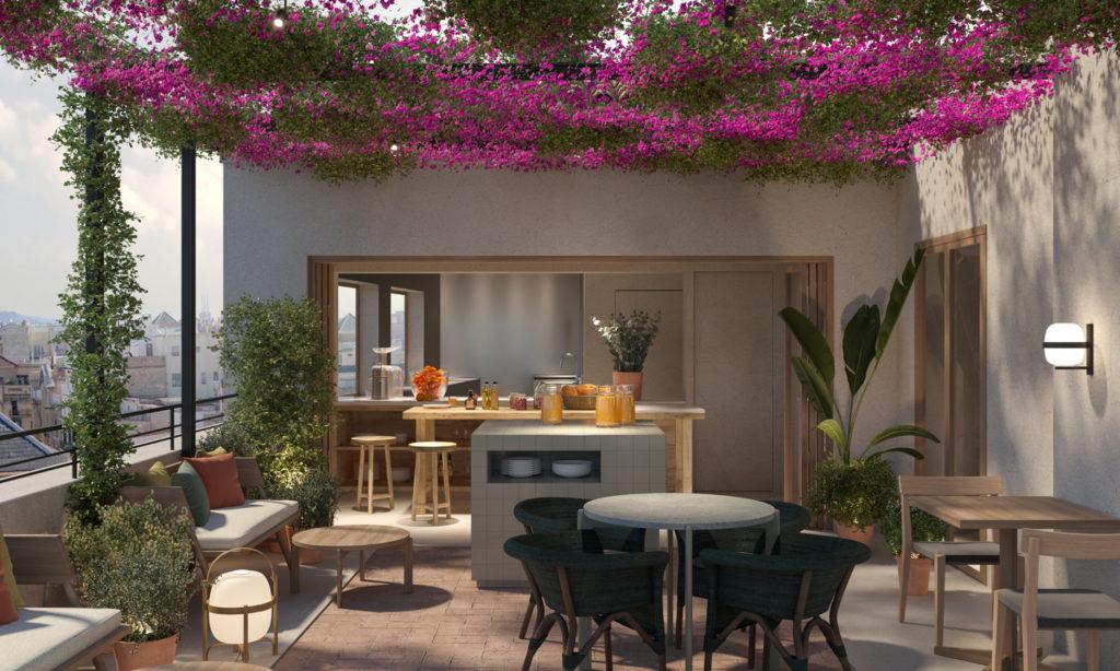 Projecció de la terrassa de l'hotel boutique dels germans Roca a Girona | ACN