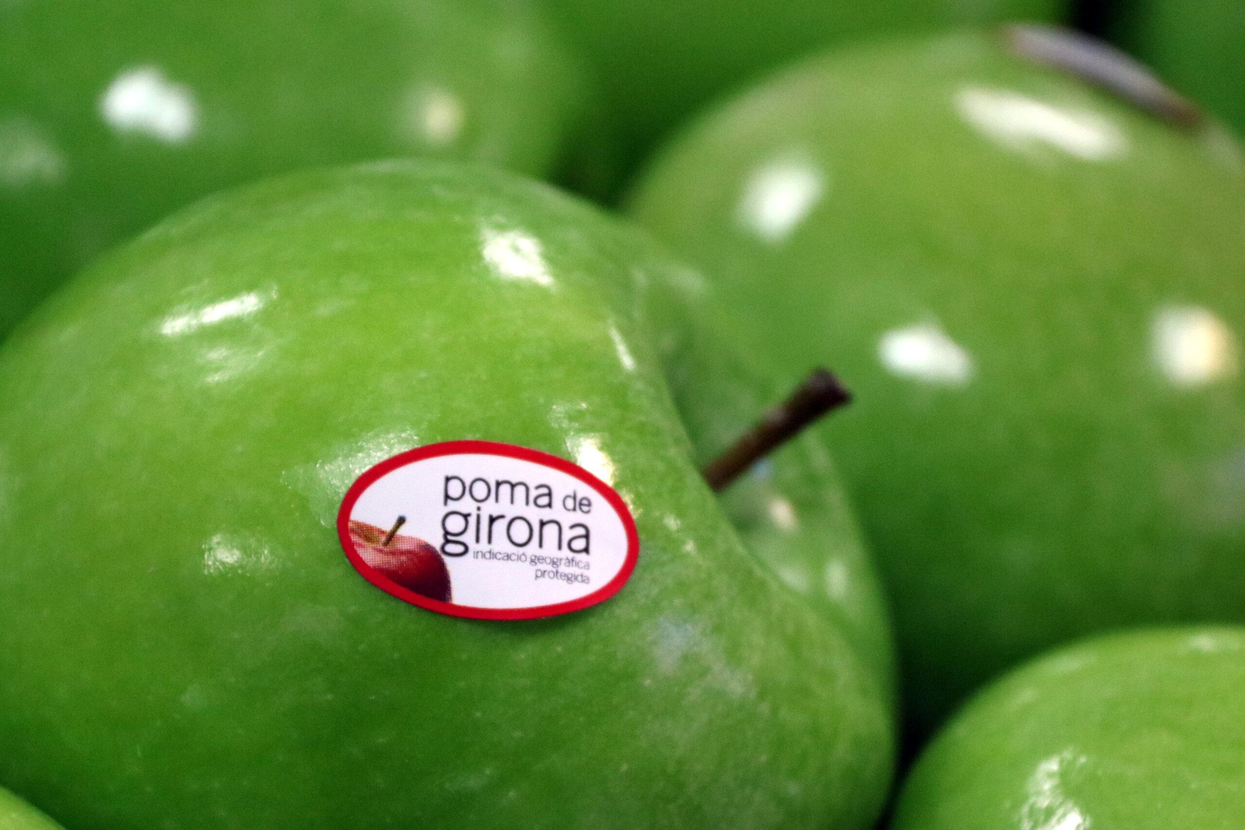 Una poma etiquetada com a Poma de Girona | ACN