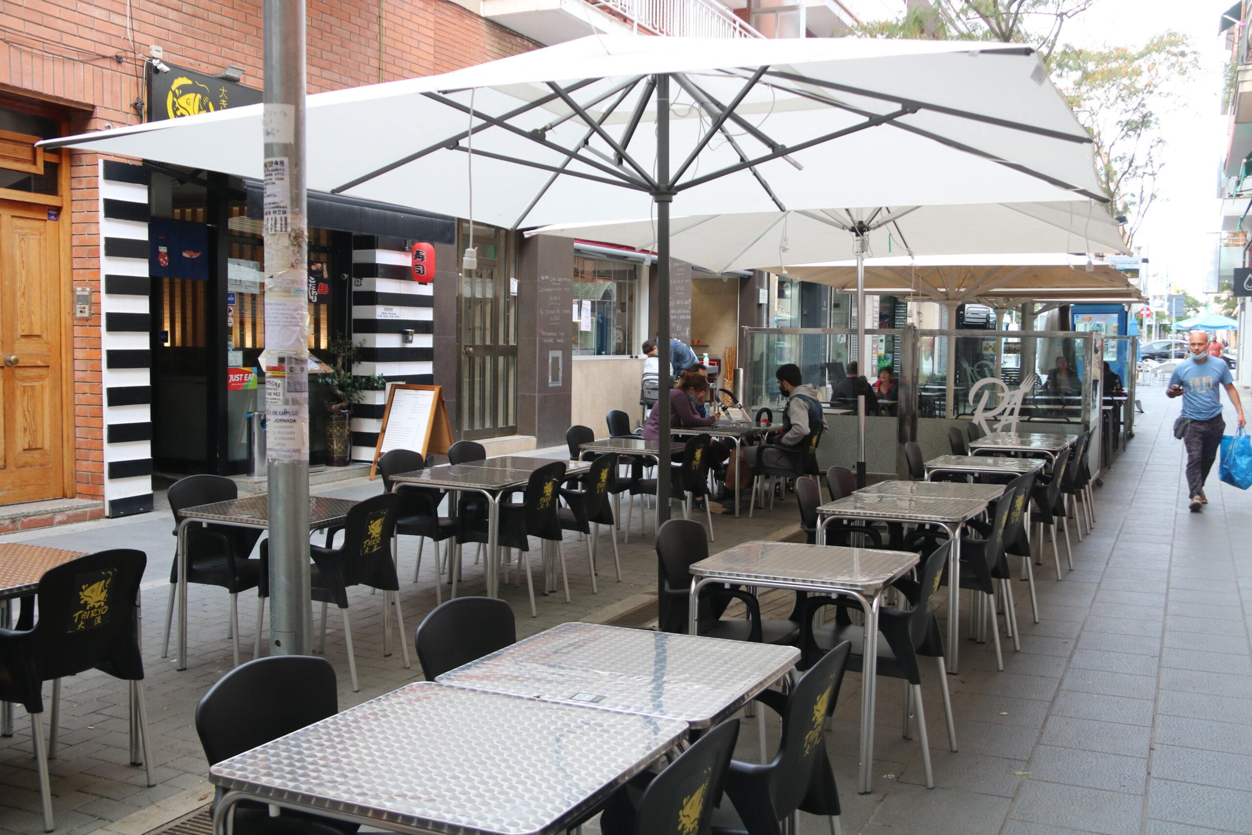 La terrassa d'un restaurant de Castelldefels  | ACN