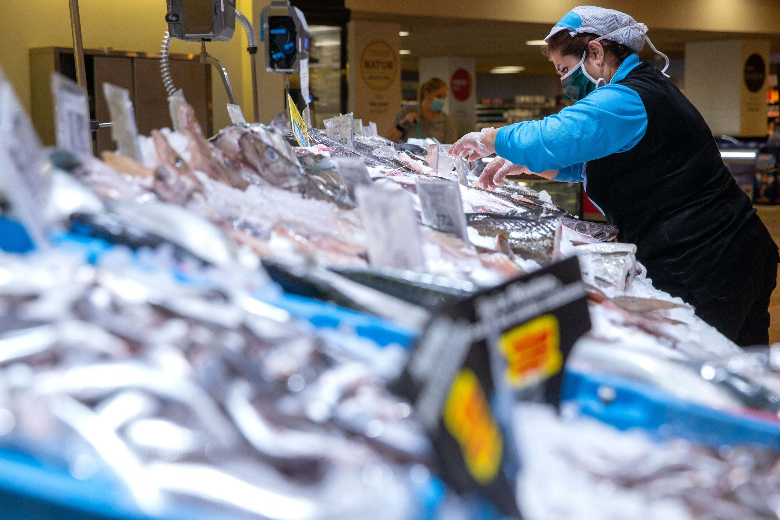 Una peixeteria dels supermercats Caprabo