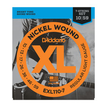 D'Addario EXL110-7 XL  7-string 10-59 Regular Light