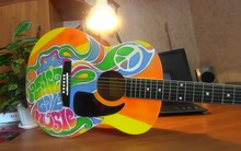 Акустическая гитара Хиппи
