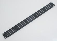 Фальш панель (заглушка) 1U с бортами с вентиляционными отверстиями Rec-K RZ11
