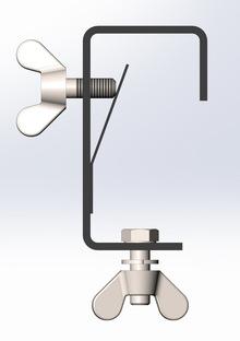 Струбцина (крюк) для подвешивания световых приборов c пластиной Rec-K SSP 02