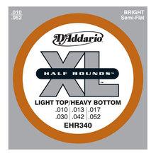 D`ADDARIO EHR340 Half Rounds, Light Top/Heavy Bottom, 10-52