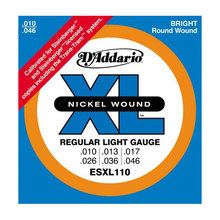 D`ADDARIO ESXL-110 Nickel Wound, Regular Light, Double BallEnd, 10-46