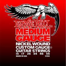 Ernie Ball P02204 MEDIUM ELECTRIC NICKEL WOUND W/ WOUND G 13-56