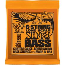 Ernie Ball P02838 6-STRING SLINKY BASS LONG SCALE NICKEL WOUND 32-130
