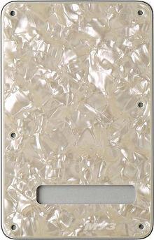 Fender - Stratocaster Back Plate Stratocaster Tremolo Cavity Cover 4-Ply White Moto