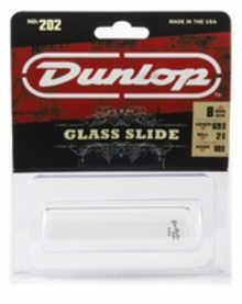 DUNLOP 202 Tempered Glass Regular Medium (18 x 22 x 69mm, rs 8) слайд для гитары стеклянный
