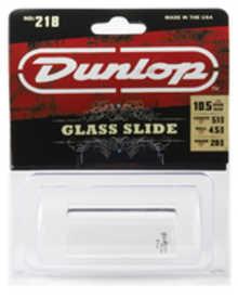 DUNLOP 218 Tempered Glass Heavy Medium Short слайд для гитары стеклянный