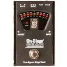 Гитарный тюнер (педаль) ON-STAGE GEAR GTA7800