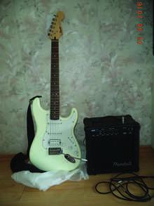 Fender Squier Bullet Strat + Randall MR15(E)