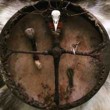 Open your drum Шаманский бубен  2015 Природный