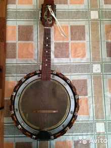 Банджо  8-ми струнное  коричневый, дерево