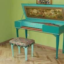 Вёрджинал клавесин  голубой