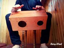 Деревянный бонго-кахон + шейкер в подарок! Noisy Wood