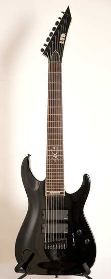 "LTD SC-608b 2013 black 8 strings/27""/EMG"