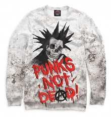 Мужской свитшот Punks not Dead! от PRINT BAR