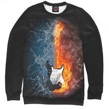 Мужской свитшот Гитара в огне и воде от PRINT BAR