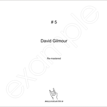 MusicalAction David Gilmour Remastered Audio Media 2018