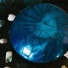 Ханг | Глюкофон | Hapi drum | Хэппи Драм | Хапи драм | Hang Nandpan | Богиня Воды | Инопланетная Мастерская  2018 Синий с элементами голографической шлифовки