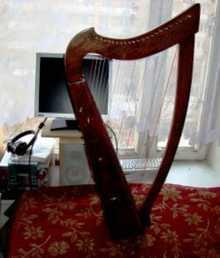 Арфа кельтская  стандарт 2014 коричневый