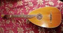 Лютара (лютневидная гитара) старинная, антикварная пр-во Германия 1901 Жёлто-коричневые