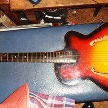 Orpheus - Джазовая акустик-гитара из 50х 1960 Жёлто- красная