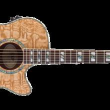 электроакустическая гитара 6-струнная LTD XTONE EW QA  Natural Gloss