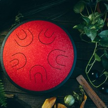 Глюкофон МИРА  Красный дракон (аналог Ханг драм, Hapi Drum, Happy Drum Hang) Hijaz 36 см 10 нот